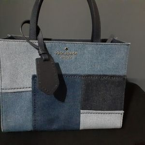 Kate Spade Denim block purse